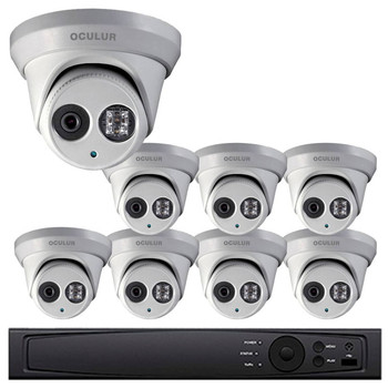 Turret IP Security Camera System, 8 Camera, Outdoor, Full HD 1080p, 2TB of Storage, Night Vision, LTN8708-D2WM