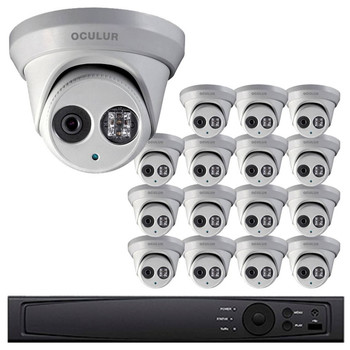 Turret IP Security Camera System, 16 Camera, Outdoor, 4MP Full HD, 4TB Storage, Night Vision, LTN8716-D4WM