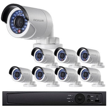 Bullet IP Security Camera System, 8 Camera, Outdoor, 4MP Full HD, 2TB Storage, Night Vision, LTN8708-B4W