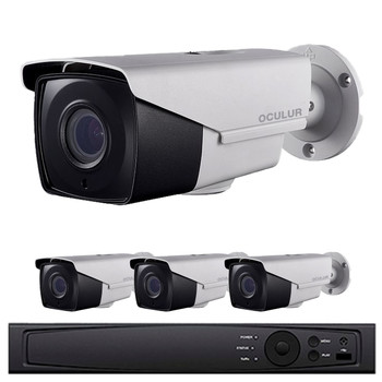 Oculur Security 4-Camera HD CCTV Bullet Security Camera System