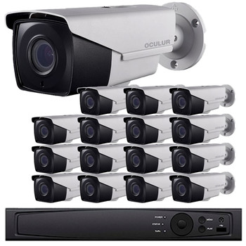 Bullet CCTV Analog Security Camera System, 16 Camera, Outdoor, Full HD 1080p, 3TB Storage, Night Vision, LTD8316-B2V