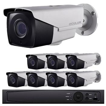 Bullet CCTV Analog Security Camera System, 8 Camera, Outdoor, Full HD 1080p, 2TB Storage, Night Vision, LTD8308-B2V
