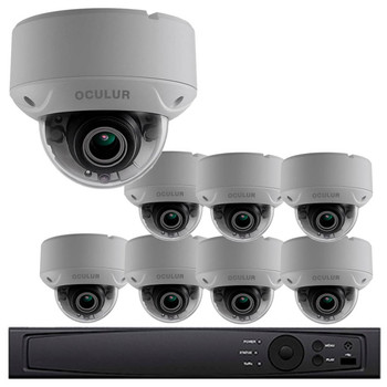 Dome CCTV Analog Security Camera System, 8 Camera, Outdoor, Full HD 1080p, 2TB Storage, Night Vision, LTD8308-D2V
