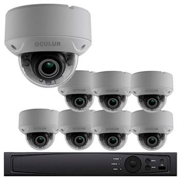 Dome CCTV Analog Security Camera System, 8 Camera, Outdoor, Full HD 1080p, 2TB Storage, Night Vision, LTD8308-D2V