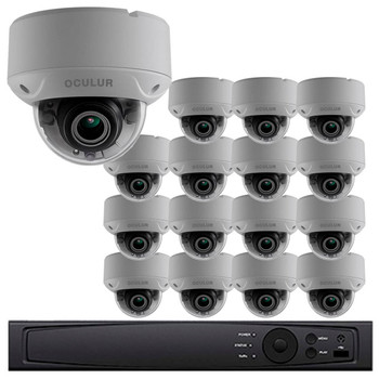 Dome CCTV Analog Security Camera System, 16 Camera, Outdoor, Full HD 1080p, 3TB Storage, Night Vision, LTD8316-D2V