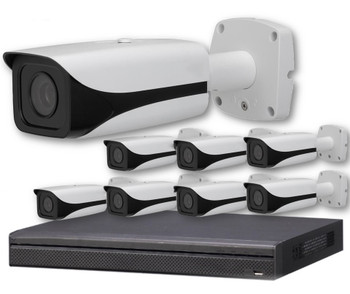 8-Camera 4K Indoor/Outdoor Motorized Bullet IP Security Camera System