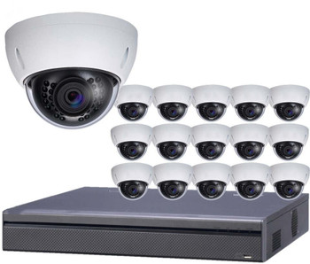 16-Camera 4K Indoor/Outdoor Dome IP Security Camera System
