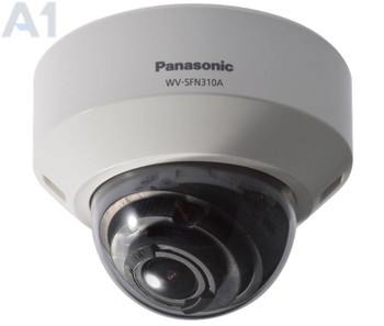 Panasonic WV-SFN310A 1MP Dome IP Security Camera - 2.8~10mm Varifocal Lens, 720p, WDR, Day/Night