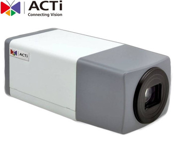 ACTi E219 IP Box Security Camera - 2MP, Day/Night, Extreme WDR, 10x Optical Zoom, SD Card Slot