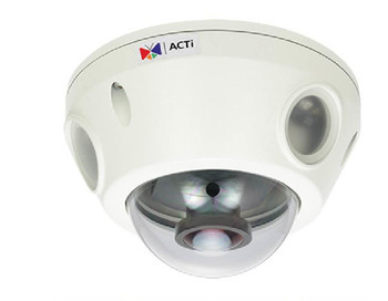 ACTi E927 Outdoor Fisheye Mini Dome Security Camera - 10MP/4K Resolution, Day/Night, Basic WDR, SD Card Slot