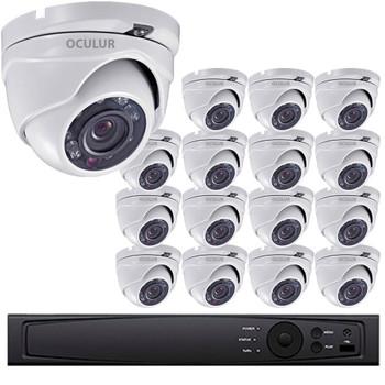 Turret CCTV Analog Security Camera System, 16 Camera, Outdoor, Full HD 1080p, 3TB Storage, Night Vision, LTD08162DK-3TB