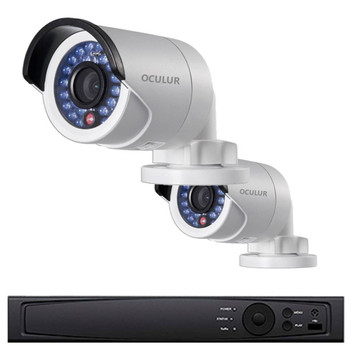 2-Camera Bullet IP Security Camera System 1080p 2MP - 100ft. Night Visibility, Plug and Play Setup, True WDR, 1TB of Storage, LTN8702-B2W