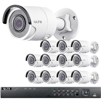 12-Camera 4MP Bullet IP Security Camera System - 3TB of Storage, True WDR, Weatherproof, LTN8712-B4W