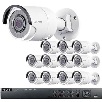 12-Camera 4MP Bullet IP Security Camera System - 3TB of Storage, True WDR, Weatherproof, LTN8712-B4W