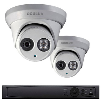 2-Camera Turret IP Security Camera System 4MP - 20fps @ 2688x1520p, True WDR, Weatherproof, 1TB of Storage, LTN8702-D4WM