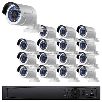 Bullet IP Security Camera System, 16 Camera, Outdoor, Full HD 1080p, 4TB of Storage, Night Vision, LTN8716-B2F