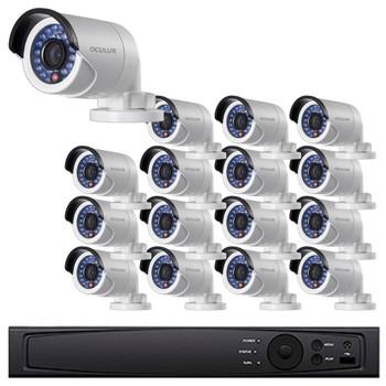 Bullet IP Security Camera System, 16 Camera, Outdoor, Full HD 1080p, 4TB of Storage, Night Vision, LTN8716-B2F
