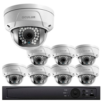 Dome IP Security Camera System, 8 Camera, Outdoor, Full HD 1080p, 2TB Storage, Night Vision, LTN8708-D2F