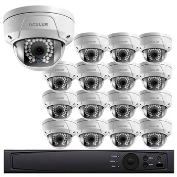 Dome IP Security Camera System, 16 Camera, Outdoor, Full HD 1080p, 4TB Storage, Night Vision, LTN8716-D2F