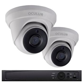 2-Camera 1080p Full HD Turret CCTV Security Camera System - 2MP, 2.8mm Lens, True WDR 120dB, Weatherproof, 1TB Pre-Installed, LTD0422DK-1TB