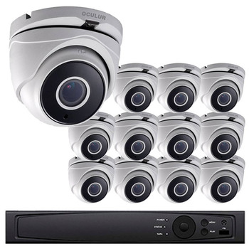 12-Camera 1080p Full HD Turret CCTV Security Camera System - 2MP, 2.8~12mm Lens, Day/Night, Weatherproof, 3TB Pre-Installed, LTD08122DK-3TB