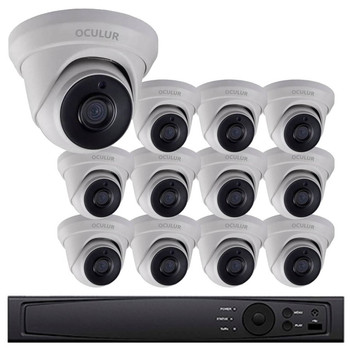 12-Camera 1080p Full HD CCTV Turret CCTV Security Camera System - 2.8mm Lens, True WDR, Night Vision, Weatherproof, LTD8312-D2M