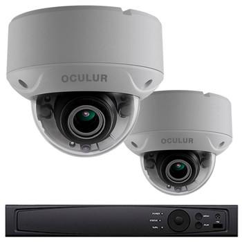 2-Camera 1080p Full HD Dome CCTV Security Camera System - 2.8~12mm Motorized Lens, Night Vision, True WDR, Weatherproof, LTD8302-D2V