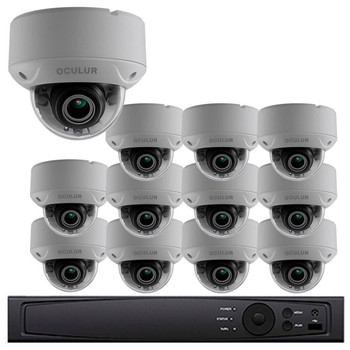 12-Camera 1080p Full HD Dome CCTV Security Camera System - 2.8~12mm Motorized Lens, Night Vision, True WDR, Weatherproof, LTD8312-D2V
