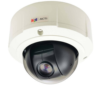 ACTi B94A 1.3MP Outdoor Network Mini PTZ Security Camera - 4.9~49mm Motorized Lens, 10x Optical Zoom, WDR, Weatherproof, Vandal Proof