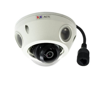 ACTi E933 2MP Outdoor Network Mini Dome Security Camera - 2.55mm Fixed Lens, Extreme WDR (145 dB), 60fps at 1920x1080, Weatherproof, Vandal Proof