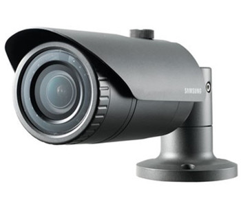 Samsung QNO-7080R 4MP IR Outdoor Bullet IP Security Camera - 2.8~12mm Motorized Lens