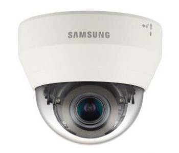 Samsung QND-7080R 4MP IR H.265 Indoor Dome IP Security Camera - 2.8~12mm Motorized Lens, 120dB WDR