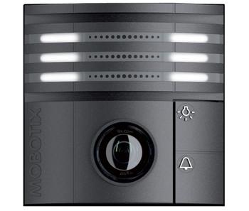 Mobotix MX-T25-D016-B 6MP Indoor/Outdoor IP Video Door Station - 1.6mm Fixed Lens, Day, vPTZ, Speaker and Microphone, Weatherproof, Black