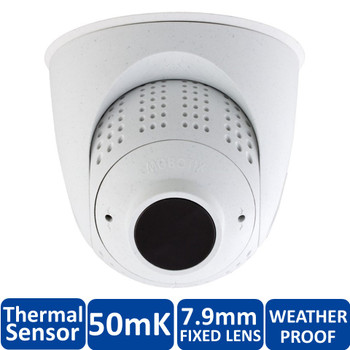 Mobotix MX-SM-PTMount-Thermal-L43-PW FlexMount S15 Thermal Sensor Module - 7.9mm Fixed Lens, 50mK, 336 x 252 pixels, Germanium Lens, White