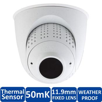 Mobotix MX-SM-PTMount-Thermal-L65-PW FlexMount S15 Thermal Sensor Module - 11.9mm Fixed Lens, 50mK, 336 x 252 pixels, Germanium Lens, White