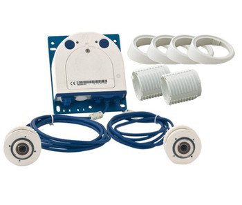 Mobotix MX-S15D-SET3 FlexMount S15 Complete Set Hemispheric IP Security Camera - 1x L12 Day, 1x L12 Night, Weatherproof