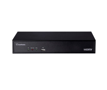 Geovision GV-SNVR0411 4 Channel 4K Network Video Recorder - No HDD Included, 4-Port Built in POE Switch