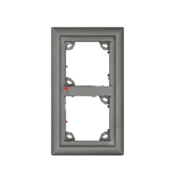 Mobotix MX-OPT-Frame-2-EXT-SV Double Frame - 131 x 233 x 18 mm (W x H x D), Outdoor, Silver