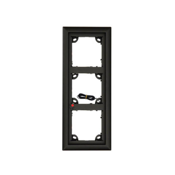 Mobotix MX-OPT-Frame-3-EXT-BL Triple Frame - 131 x 233 x 18 mm (W x H x D), Outdoor, Black