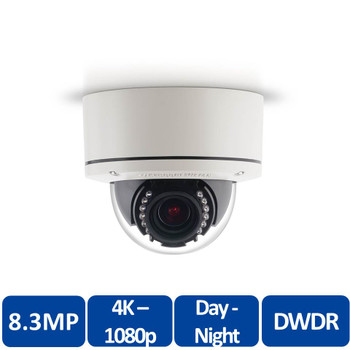 Arecont Vision AV08ZMD-400 MegaDome 4K Indoor/Outdoor IP Security Camera - 8.3 MP at 30 fps, Zoom