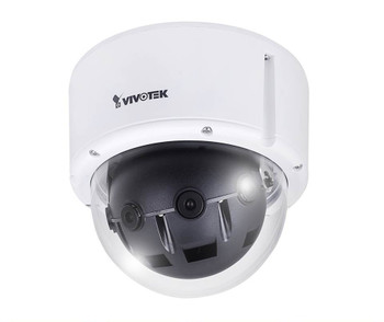 Vivotek MS8392-EV Multi-Sensor Dome IP Security Camera 12MP - 6mm Fixed Lens, 1/2.8 CMOS, WDR, Vandal-Proof, Weatherproof