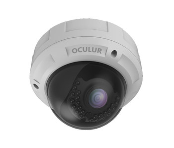 Oculur X4DV 4MP Outdoor Dome IP Security Camera with Motorized Lens and Night Vision