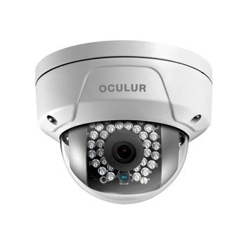Oculur X4DF 4MP IR Outdoor Mini Dome IP Security Camera with 2.8mm Fixed Lens