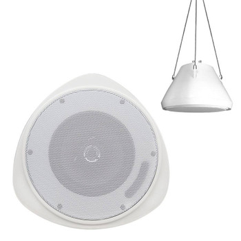 "Speco SP30PT 5"" Pendant Mount Speaker - White Housing"
