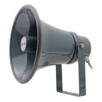 "Speco SPC15T 8.5"" Weather-Resistant Aluminum PA Horn - 70/25V"
