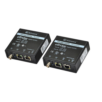 Altronix EBRIDGE100RMT Ethernet Over Coax/CAT5e Receiver/Transceiver Adapter Kit