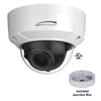 Speco O8D2M 4K 8MP IR Outdoor Dome IP Security Camera - with Junction Box