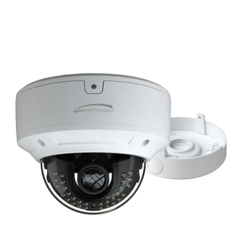 Speco O4D6M 4MP IR H.265 Indoor/Outdoor Dome IP Security Camera - Speco Cloud Enabled, with Junction Box