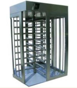 Full Height Stainless Steel Bi-Directional Turnstiles TS-100-S PS - Painted Stainless