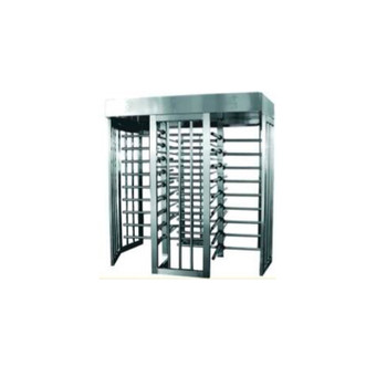 Full Height Dual Gates Stainless Steel Turnstile TS-200-D SS - Stainless Steel